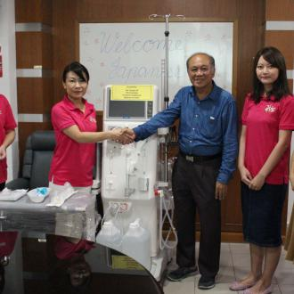 Donation of Dialysis Machine by The Japan Club of KL